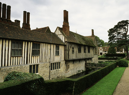 View of the north-east elevation at Ightham Mote