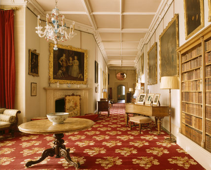 View of the South Gallery at Lacock Abbey