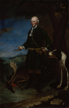 PORTRAIT OF JOSEPH WATSON, by Joseph Slack, 1750, post-conservation at Lyme Park (LYM/P/26)