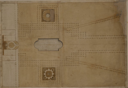 DESIGN FOR THE GRAND PARADE AT WIMPOLE c. 1721