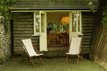 The Lodge Writing Shed in the garden at Monk's House, the former home of Virginia and Leonard Woolf