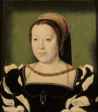 CATHERINE DE MEDICI, style of Corneille de Lyon (active 1533/4-1574) from the Corridor at Polesden Lacey