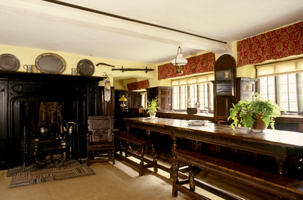 The interior of the Fire Room at Townend, Cumbria