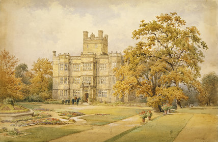 THE SOUTH VIEW OF GAWTHORPE HALL by Nathaniel Everett Green 1884