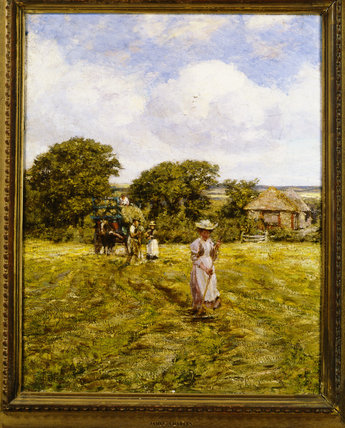 HAYMAKING by James Charles (1851-1906) from Standen