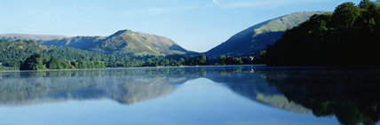 Flat calm at Grasmere, Cumbria