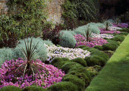 A View Of A Colourful Summer Flower Border At Peckover