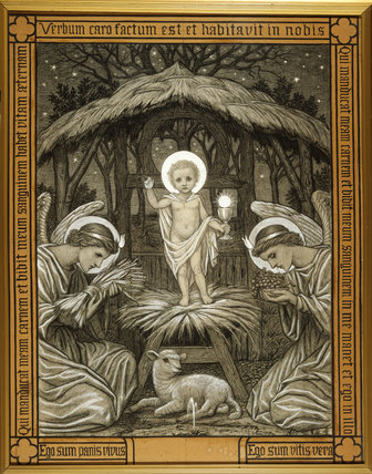 Nativity Scene By Evelyn De Morgan A Pen And Chalk