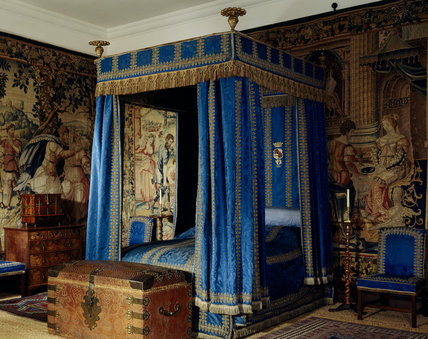 The Blue Bedroom Showing The Magnificent Four Poster Bed