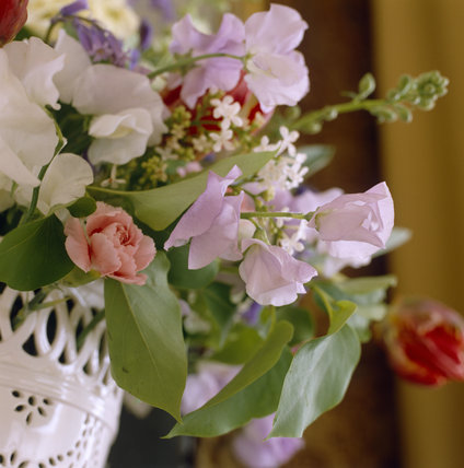 Early C19th Flower Arrangement In The Yellow Bedroom At