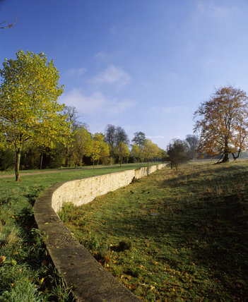 the stone ha ha at stowe landscape gardens running from. Black Bedroom Furniture Sets. Home Design Ideas