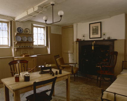 The Kitchen at Carlyle's House, 24 Cheyne Row, London, the home of writer Thomas Carlyle and his wife from 1834 to 1881