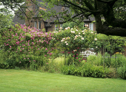 Part Of The Garden At Red House With A View Of The House