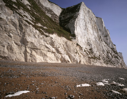View Of The Bottom Of The Cliff North Of St Margaret S At