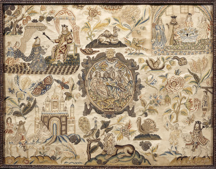 Stumpwork Embroidery In The Tapestry Room At Treasurer S