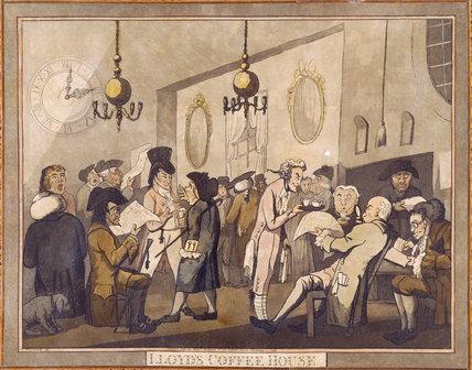Lloyd S Coffee House By George Woodward 1798 Calke