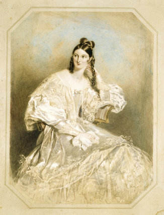 LADY KATHERINE MANNERS by Chalon, 1831 from Ickworth