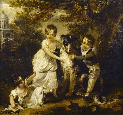 Family Portrait Of Sir John Trevelyan 4th Bart By Arthur
