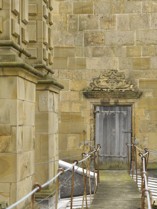 Door With Bess Of Hardwick S Arms Over To The Banqueting