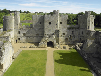 View Overlooking The Interior Of Bodiam Castle East