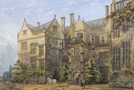 Painting Of Montacute House In The Hall Chamber Somerset