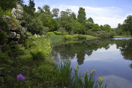 The lake at Claremont Landscape Garden Esher Surrey Claremont Landscape Garden at National Trust