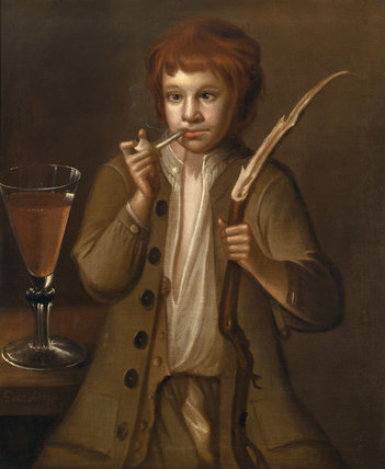 PORTRAIT OF THE WOLRYCHE FOOL by George Alsop, 1719