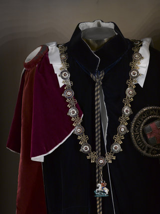 The Garter Robes Worn By Winston Churchill In The Uniform