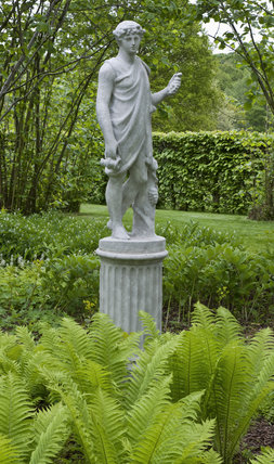 The Statue Of The Greek God Dionysus In The Nuttery At