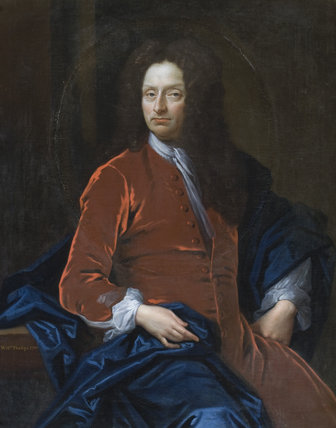 WILLIAM PHELIPS, d.1714, unknown artist, 1700, in the Parlour Passage at Montacute House, Somerset.