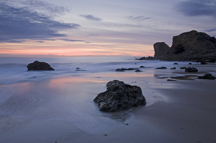 Sunrise at Trow Rocks, The Leas on the Marsden coast, Tyne & Wear