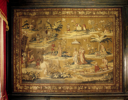 'Young' Sir John Brownlow commissioned this tapestry from John Vanderbank in 1691