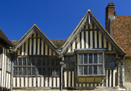 Tudor Windows detail of the tudor windows and gables on the half-timbered east