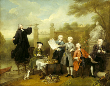 THE HERVEY CONVERSATION PIECE by William Hogarth (1697-1764)