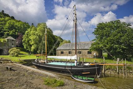 The restored Tamar sailing barge