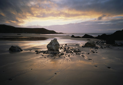 The beach at Whistling Sands, Porth Oer