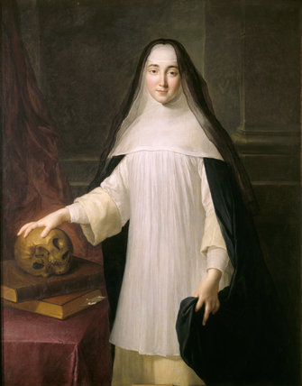 Portrait of a Nun, known as Winifred Cufaude, 1703, by Alexis Simon Belle, (1674-1734) in the Large Drawing Room at The Vyne