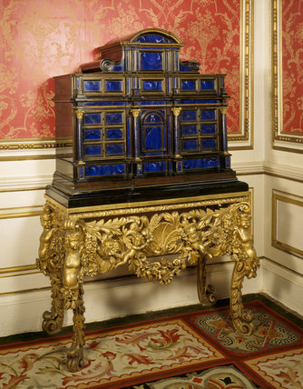 late c17th italian lapis lazuli cabinet on a charles ii With kitchen cabinets lowes with lapis lazuli wall art