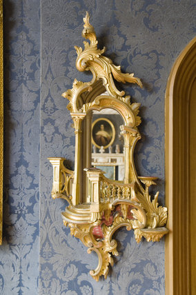 Wall Mirror Detail In Eighteenth Century Rococo Style In