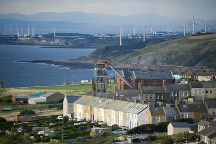 A View Over The Harbour And Old Colliery Workings Of