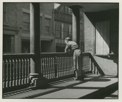 Watergate row north with figure leaning on rail e chambr for Chambre hardman