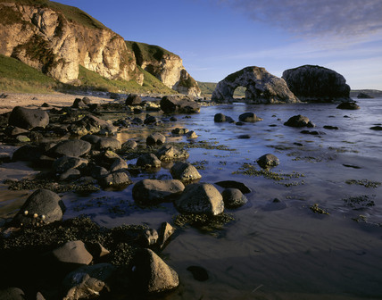 Rocks At The Waters Edge At White Park Bay Co Antrim