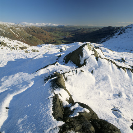view from wynrose pass cumbria looking down little. Black Bedroom Furniture Sets. Home Design Ideas