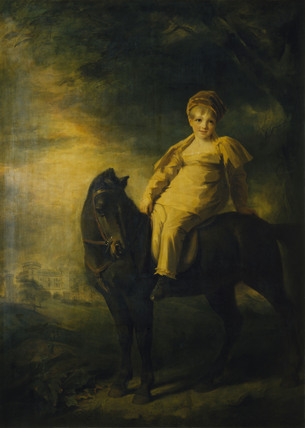 THE 13TH EARL OF EGLINTON AS A BOY ON HORSEBACK by Sir Henry Raeburn RA (1756-1823) Catalogue number: 64