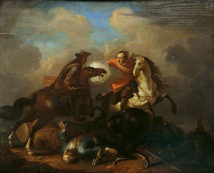 Cavalry Scene, after Van der Mealen