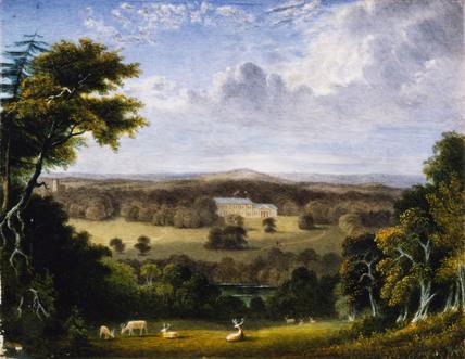 Werrington Park Cornwall A Landscape Miniature By J Owen