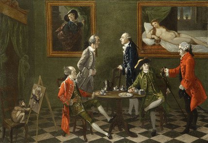 THE COGNOSCENTI by Thomas Patch (1725-1782), in the North Gallery at Petworth House