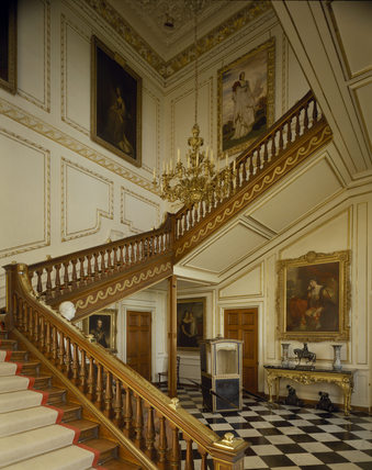 The Staircase Hall At Belton House House