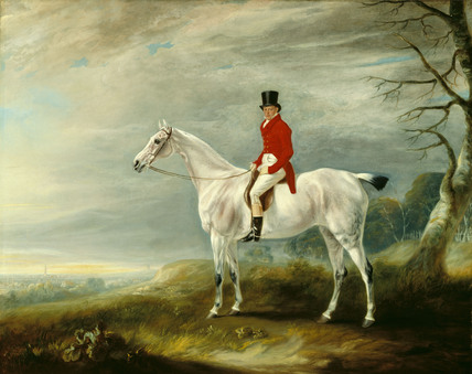 WILLIAM RUSTON HUNTING AT MELTON MOWBARY by John Ferneley (1782-1860)