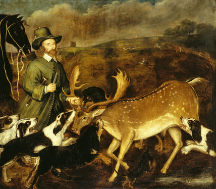 DEATH OF A BUCK by an unknown artist c.1660